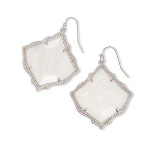 Kirsten silver drop earrings